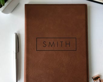 Personalized Leather Journal, Corporate Gift, Husband, Boyfriend Gift, Fathers Day Gift, Groomsman, Personalized Padfolio, Graduation Gift