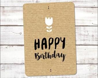 Postal card {Happy Birthday}