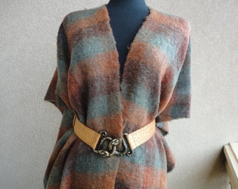 Plaid Mohair Wrap
