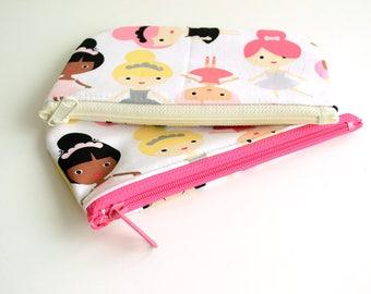 Ballerina Bag - Crayon Holder - Pencil Case - Pencil Pouch - Pencil Holder - Pencil Bag - Zipper Coin Purse - Zipper Pouch - Coin Pouch