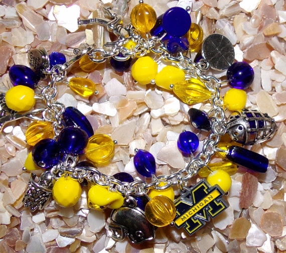 Michigan University Wolverines Bracelet