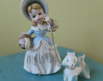 Vintage Lady And Her Spaghetti Poodle Ornament