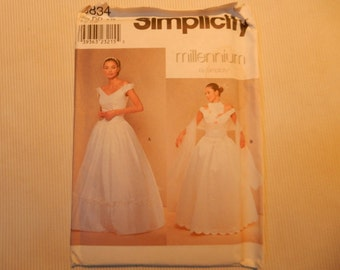 Misses/Miss Petite Bridal Dress and Wrap Simplicity 8834  Sizes 4-10
