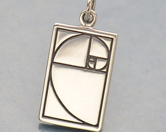 Sterling Silver Golden Ratio Charm-Greece-Geometric