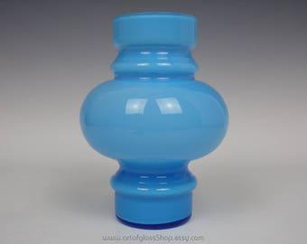Swedish blue glass vase