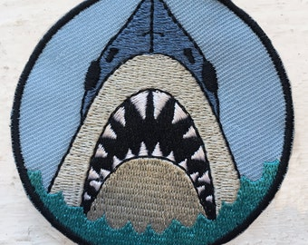 Shark Embroidered Sew On Patch