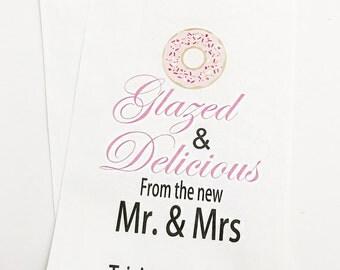 Donut Favor Bag, Wedding Favor Bags, Donut, Personalized Wedding Favor Bags, Custom Favor Bags,