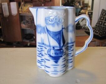 Vintage Blue and White Creamer