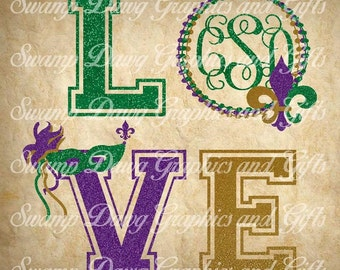 Mardi Gras svg, love mardi gras svg, love svg,silhouette,cricut, cut file, mardi gras cut file, digital file, carnival, parade, svg, beads