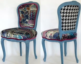 Upholstered Vintage French Side Chair