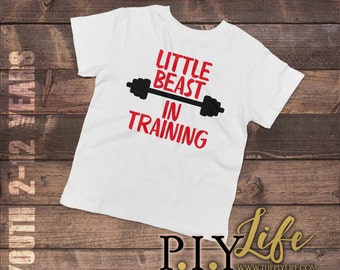 Little Beast in Training Child T-shirt Youth Tee Toddler Shirt Printed on Demand DTG