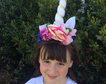Unicorn crown head band