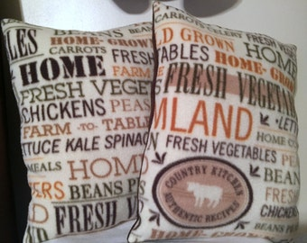 Country throw pillows / farm fresh pillows / Mother's Day gifts