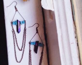 Rainbow Witch Earrings