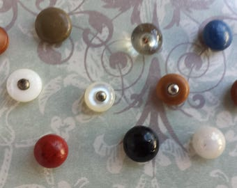 Great collection of Vintage shoe Buttons