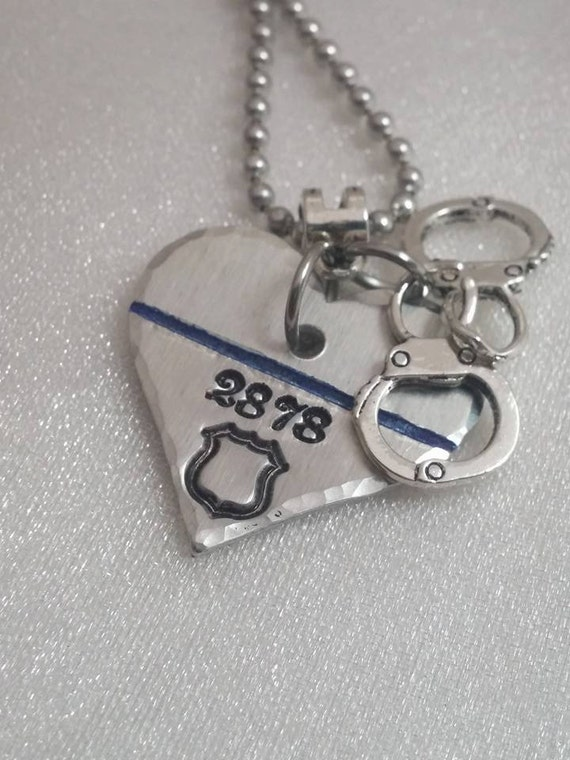 Blue Lives Matter - Police Wife Gifts - Police Officer Gifts - Thin Blue Line - Police Officer Jewelry - Police Mom Gift - Personalized