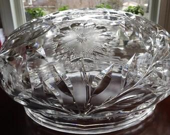 c.1900 12lb. Lamp Shade Cut Glass UNBELIEVABLE
