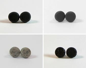 Clay Earrings - Blacks