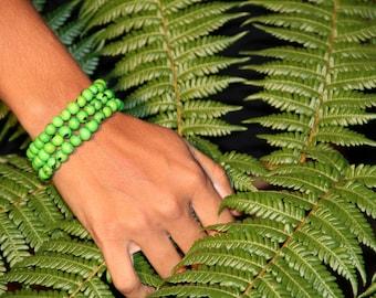 3 wrap green bracelet