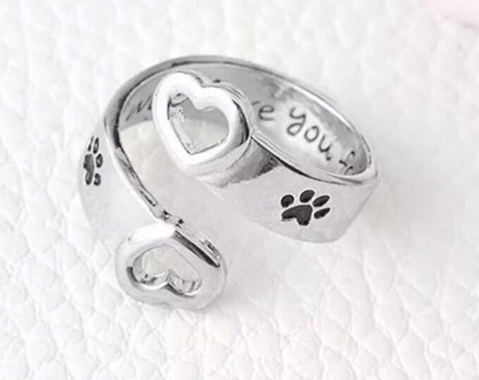 Rainbow bridge pet memorial ring I will love you forever