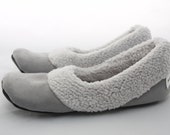Women's Slippers - Bridesmaid Gift - Best Friend Gift - Pewter