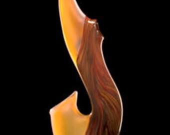 Sale Cinnamon Grand Serenoa Glass Sculpture