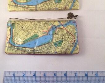 Mini Zippered Pouch Downtown Boston Mapsack