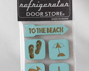 Refrigerator Magnet. Fridge Magnets. Kitchen Magnets. Kitchen Decor. Magnets. To The Beach.