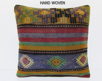 lifestyle kilim pillow 20x20 retro pillow sham spring aztec pillow cover bench pillow case floor cushion cover gypsy throw pillow wool B2091