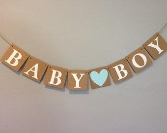 baby boy banner, baby boy banner, boy banner, baby shower, chipboard banner