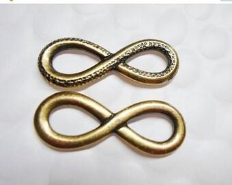 1 TierraCast Brass Infinity Link, Bracelet finding, jewelry supplies,