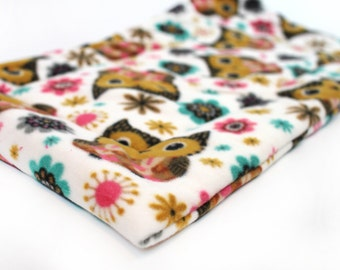 Dog Bed, Crate pad, owl fleece crate mat, dog bedding, crate bed
