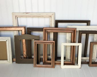Gallery Wall Frame Set gallery wall decor wooden frame set rustic gallery wall