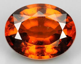 1.00 Cts Natural Srilanka HESSONITE GARNET Oval