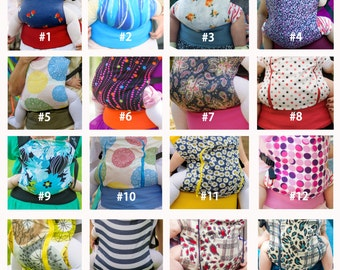 Choose your own 2 prints/ Baby Carrier Double-sided / Reversible/ SSC/ Buckle Carrier/ Soft structured/ Ergonomic Sling / by Bagy