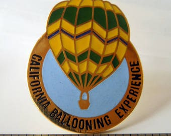 Vintage Lapel Pin California Ballooning Experience