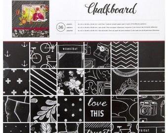 12x12 American Crafts Chalkboard Paper Pad