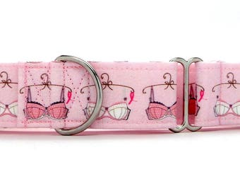 Save The Tata's PINK Bras Pet Collar (Martingale, Buckle, or Tag)