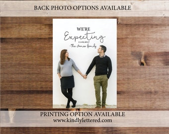 Pregnancy Announcement- We're Expecting Baby Announcement-Pregnany Announcement-Digital File-Digital Pregnancy Announcement-We Are Expecting