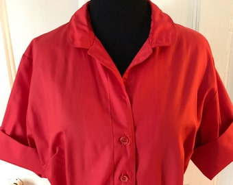 Avalon Classics Vintage 1960's Red Shirt Dress