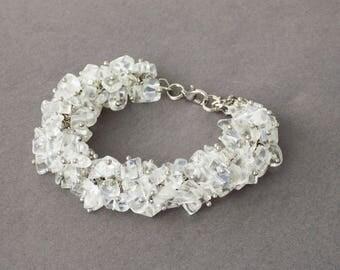 Gift from children birthstone jewelry boho bracelet gemstone jewelry rainbow moonstone bracelet spiritual jewelry moonstone jewelry for mom