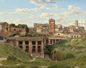 "Christoffer Wilhelm Eckersberg : ""View of the Cloaca Maxima, Rome"" (1814) - Giclee Fine Art Print"