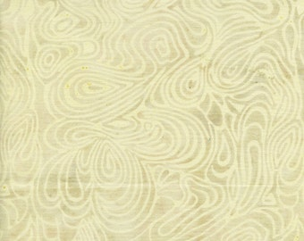 Island Batik Neutrals Milkshake Light Creamy White with Swirls Batik Fabric BTY