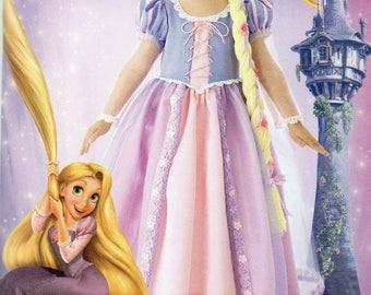 TANGLED Simplicity Disney Princess Pattern 2065 RAPUNZEL Child's sizes 3 4 5 6 7 8