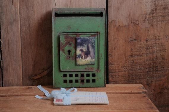 Wall Decor Mailbox : Items similar to vintage mailbox wall metal