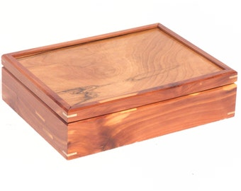 Red Felt Lined Red Cedar Box