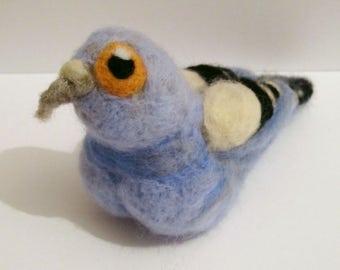 Needle Felted Pigeon