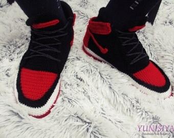 Men's slippers Nike Air jordan Knitted shoes Slippers Air Jordan Crocheted slippers Women's Slippers Sneakers slippers Shoe slippers 3BB103