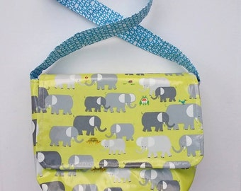 CHOOSE Fabric Wipe clean Dolly Changing Bag // Mini changing bag // mini diaper bag // big sister gift // new sibling gift