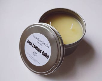 Travel Tin Candle in Tres Leches Cake Scent | 8 oz | Two Wicks | Hand Poured, Highly Scented